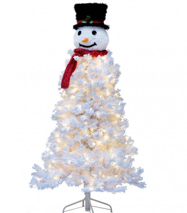Ель Снеговик светодиодный вкл